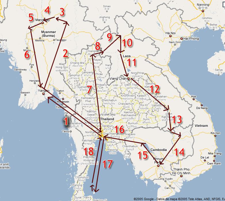 Sudeste Asiatico Mapa Por Sudeste Asiatico